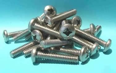 Fine Pitch Machine Screws<br />18-8 / 304 Stainless Steel