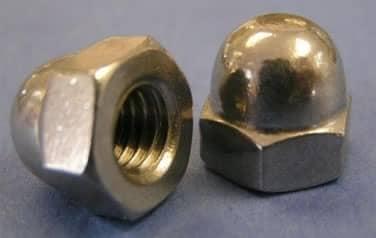 Acorn Cap Nuts<br />18-8 / 304 Stainless Steel