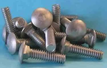 Carriage Bolts <br /> 18-8 / 304 Stainless Steel