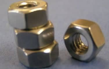 Fine Pitch Nuts<br />18-8 / 304 Stainless Steel