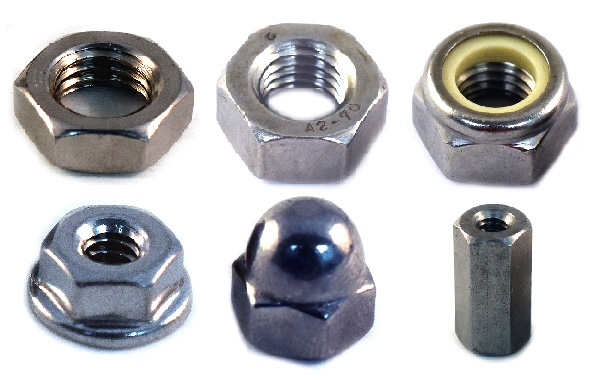 Metric Nuts<br />A2 Stainless Steel