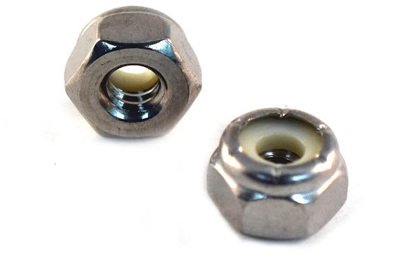 Nylon Insert Lock Nuts<br />18-8 / 304 Stainless Steel