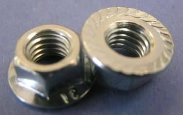 Serrated Flange Nut<br />18-8 / 304 Stainless Steel