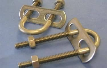 U- Bolts w/Plate and Nuts<br />Stainless Steel