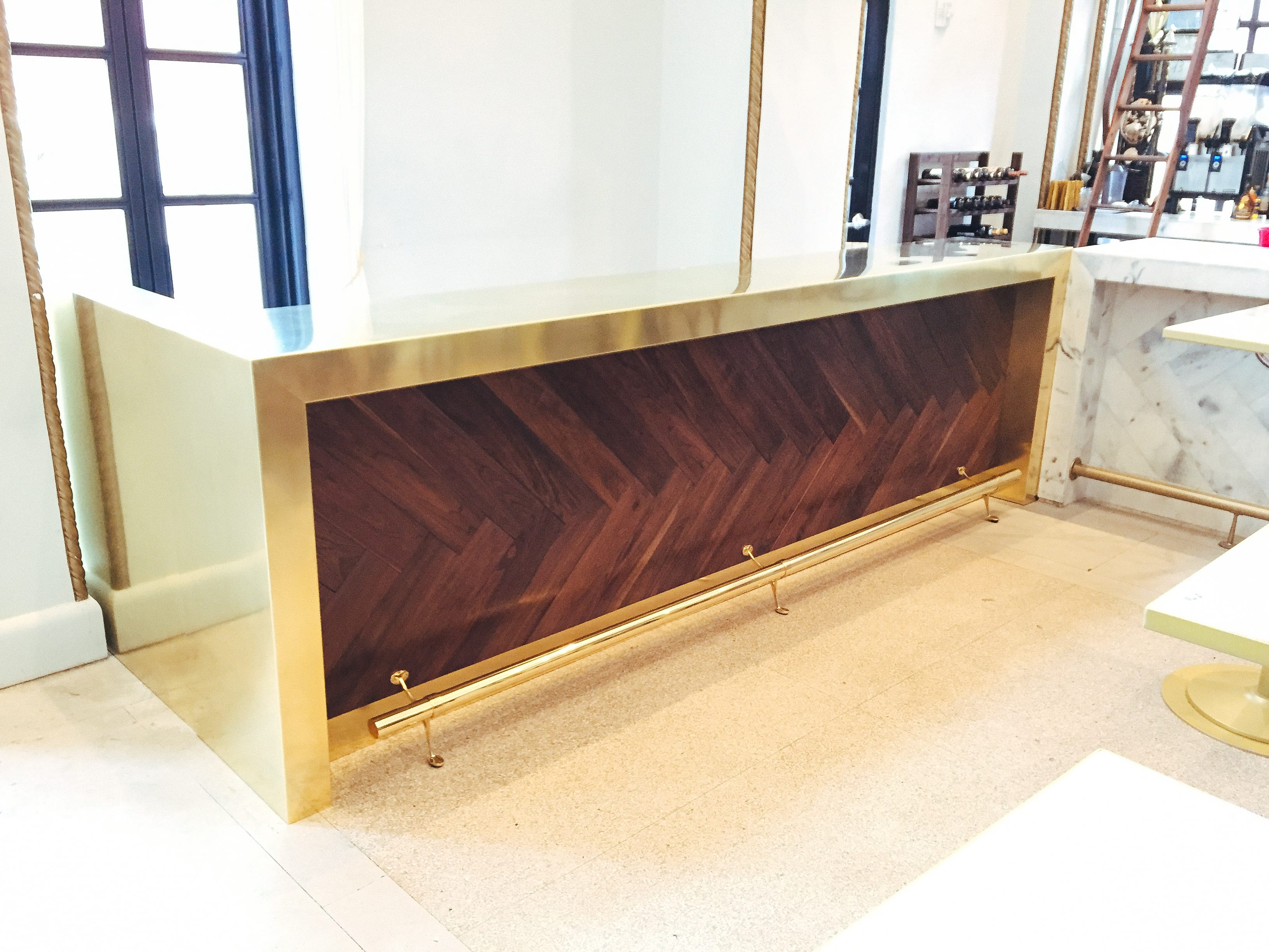 Brass Counter for local business