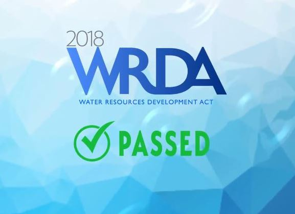 Water Resources Development Act (WRDA) Signed Into Law