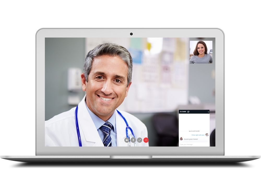 teleconsultation by physician on video call