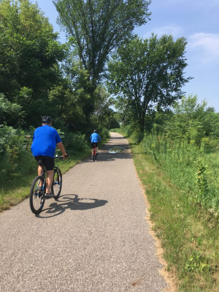Biking on the Sakatah Trail