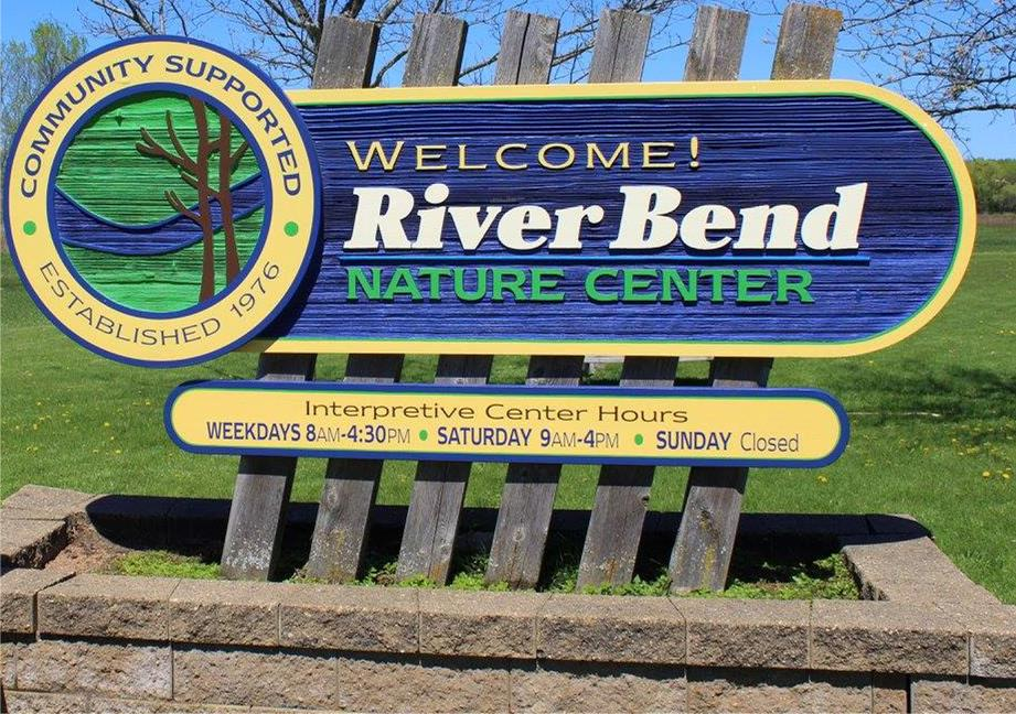 River Bend Nature Center Sign