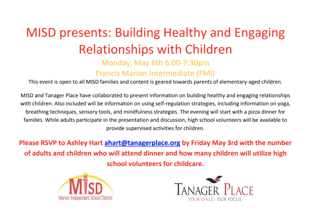 Flyer on Building Healthy Relationships nigth
