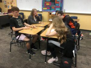 Students doing math
