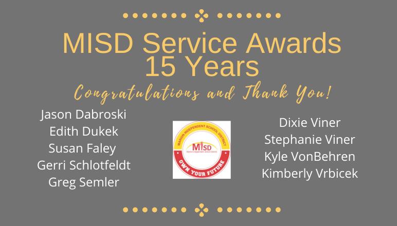 15 Year Service Awards