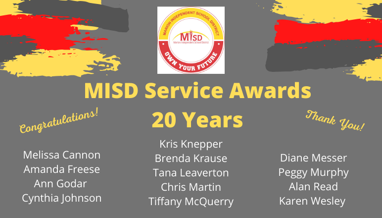 MISD 20 Year Service Awards