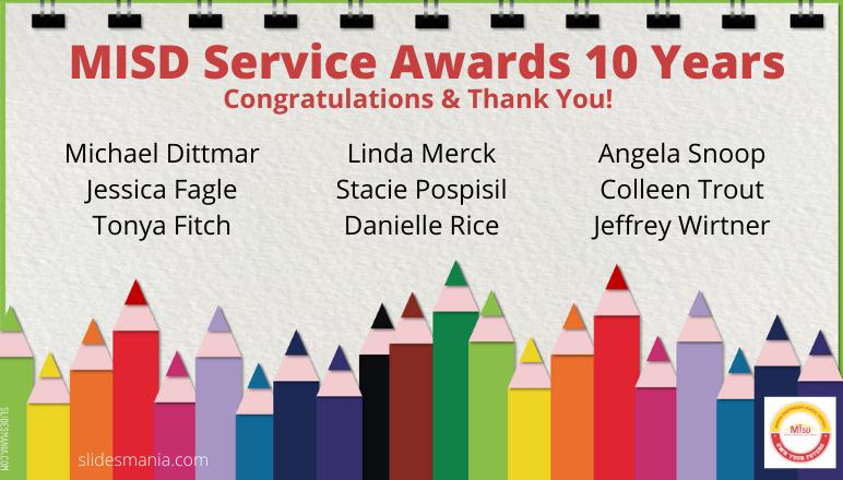 MISD Service Awards 10 Years