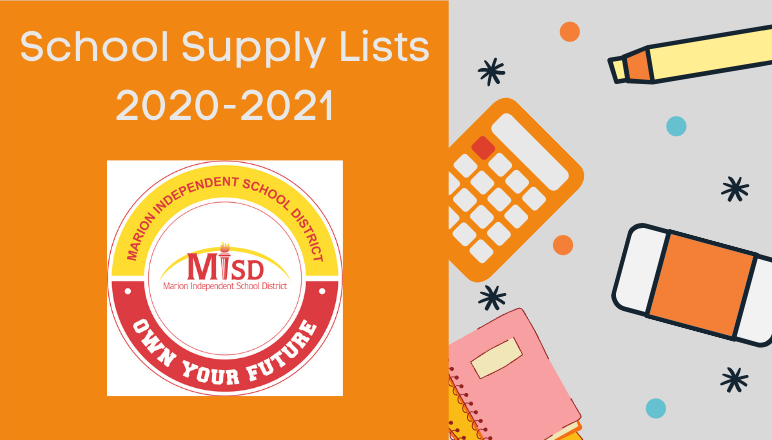 School Supply Lists 20-21