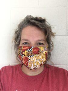 Mrs. Kuethe with mask