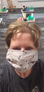 Mrs. Reisner with mask