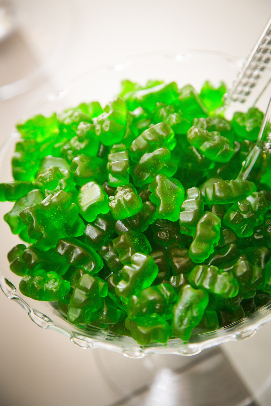 Baby Niam's 100th Day Bow Tie Party, green gummies