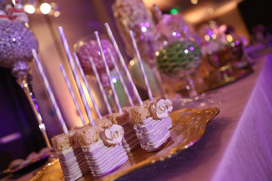 Pastel Candy bar, candy pops, pink linen