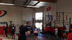College athletes warm-up with hand balls at Velocity Cross Fit - Los Angeles, California 6.jpg