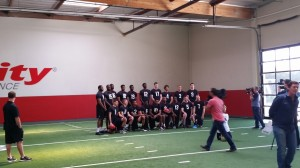 Collegiate athletes pose for a photo session (indoor) - Los Angeles, California 1