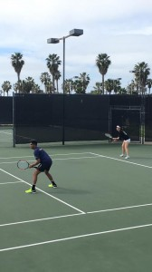 Mixed doubles competitors are mentally, and physically, prepared for the weekend of tennis hustle and grind at Barnes Tennis Center (San Dego, Ca) USTA SCTA TOC
