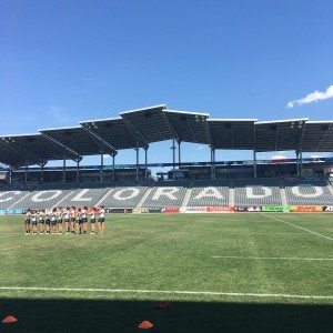 NYC Old Blue Women's Rugby Team - National Anthem - NCAA Rugby Championship - Dicks Sporting Goods Park - Denver, Colorado 2