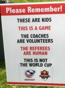 Please remember  Parent Coach sign about youth athlete respect