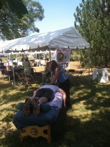 Sports massage services on-site provided the racers with a much needed recovery