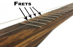 Frets on a Cigar Box Guitar Neck