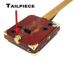 A Cigar Box Guitar Tailpiece