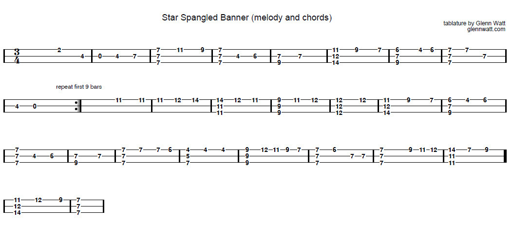 star-spangled-banner-melody-and-chords