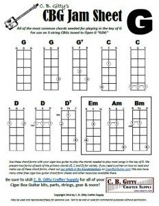 Jamming Guide for 3-string Cigar Box Guitars - Key of G