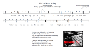 Red River Valley - MELODY AND CHORDS Version. Click the image above to view the printable sheet.
