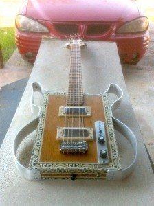 Michael Van Slyke's Aluminum Frame Cigar Box Guitar