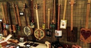 Selling Cigar Box Guitars at a Festival