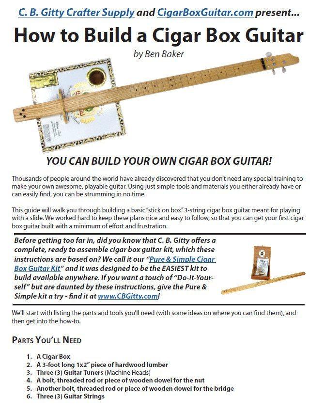 How to Build a 3-string Cigar Box Guitar