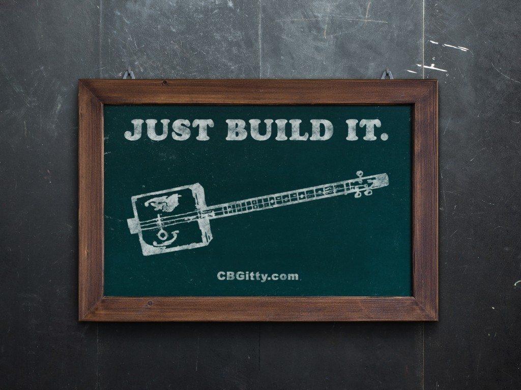 Just Build It - Cigar Box Guitar Chalkboard