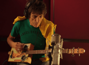 Ronnie Wood with Cigar Box Guitar