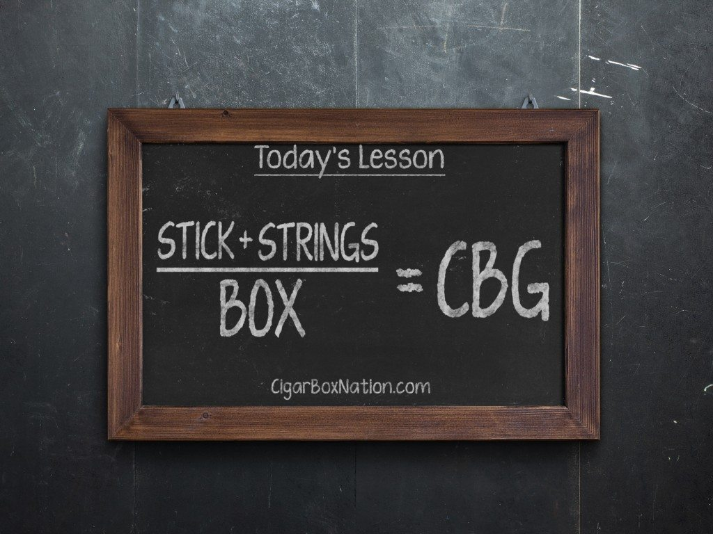 Stick + Strings over Box = CBG