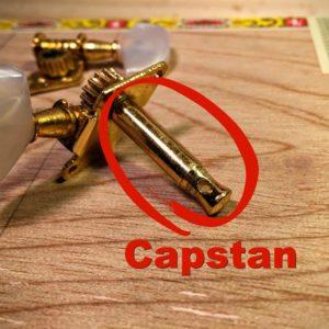 capstan on an open gear tuner