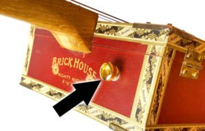 This is a good place to put the upper strap button on a cigar box guitar.