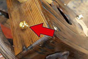 Gold Strap Button