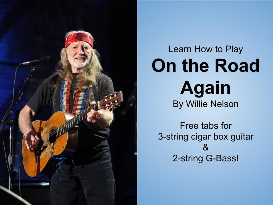 How to Play On The Road Again by Willie Nelson – Free 2 & 3-string tab