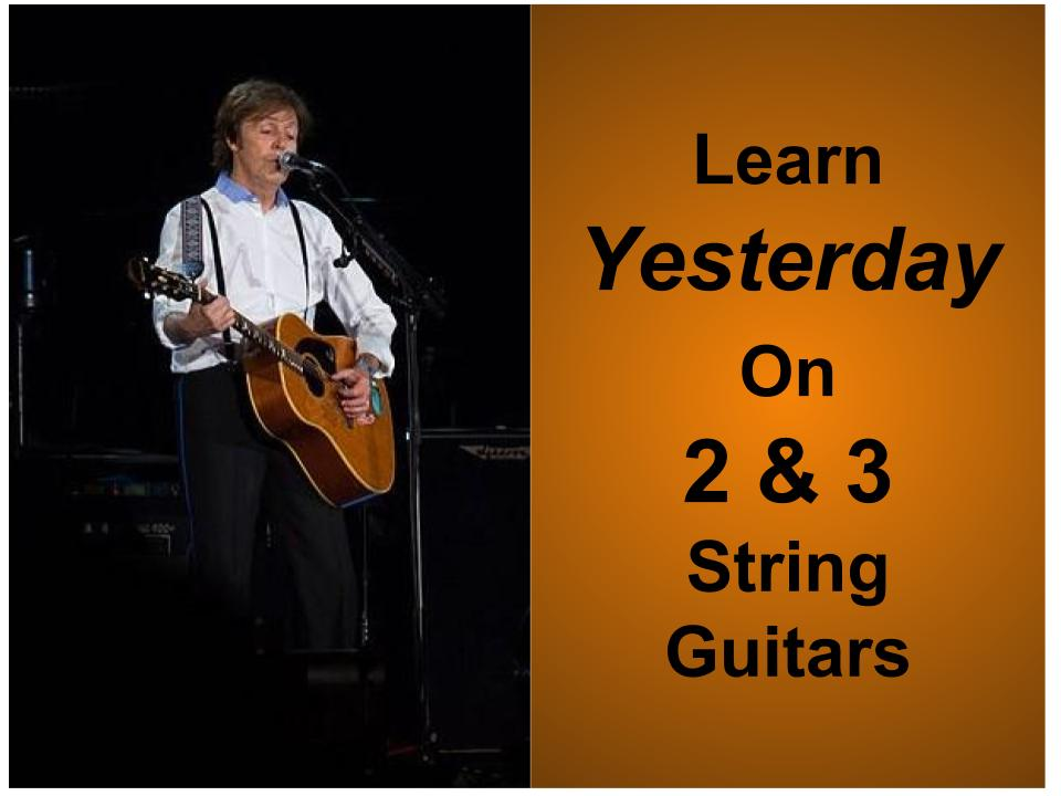 Free 2 & 3-String Tablature For Yesterday by The Beatles