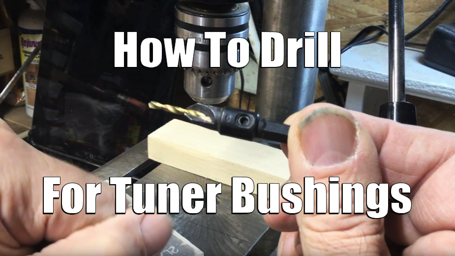 [VIDEO] Cigar Box Guitar Tuner Bushing Drilling Tutorial