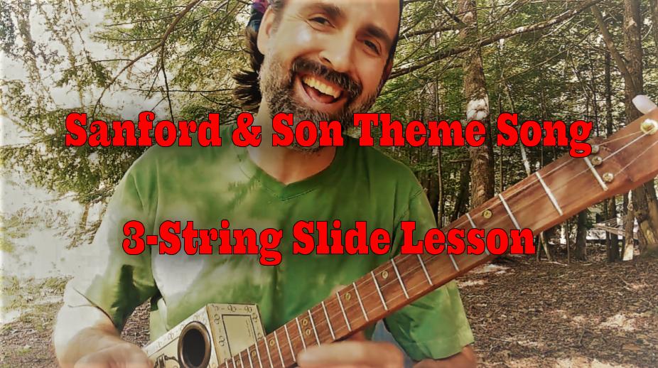 Sanford & Son 3-string cigar box guitar lesson