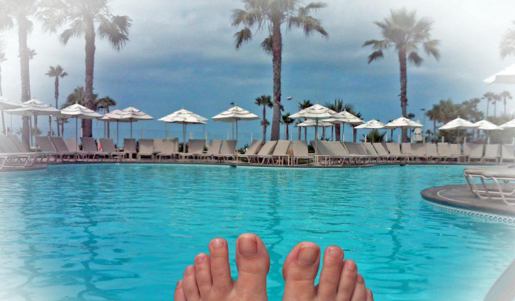 Toes Poolside