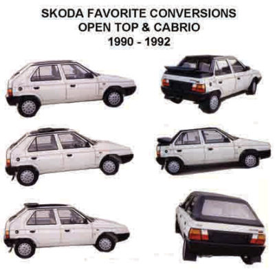 1992 SKODA FAVORIT KERABOS CONVERTIBLE MODIFICATION