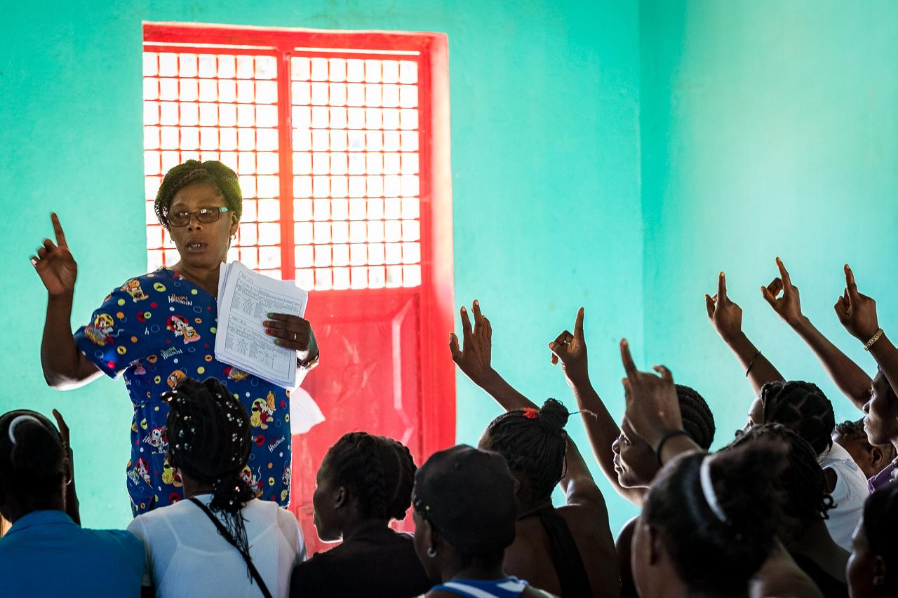 mobile prenatal clinic midwives for haiti, cheryl hanna-truscott